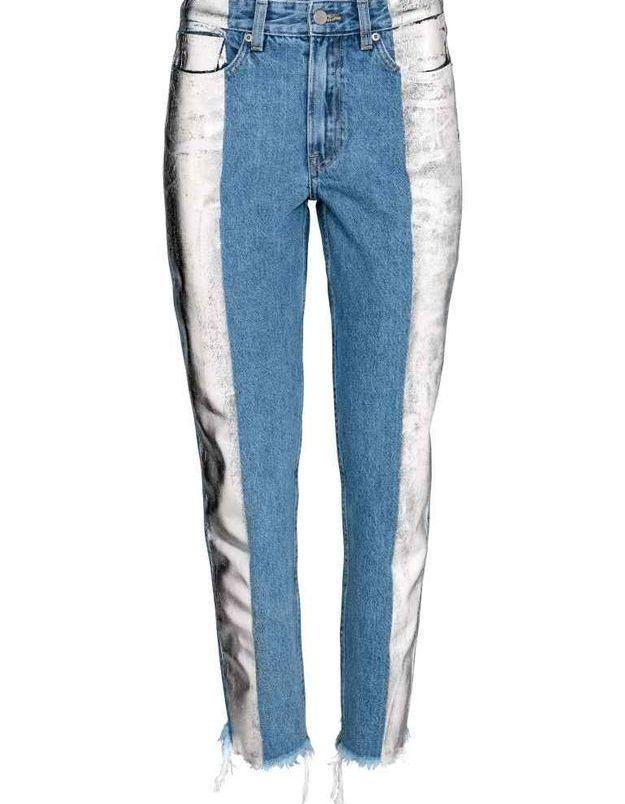 Jean slim métallique H&M