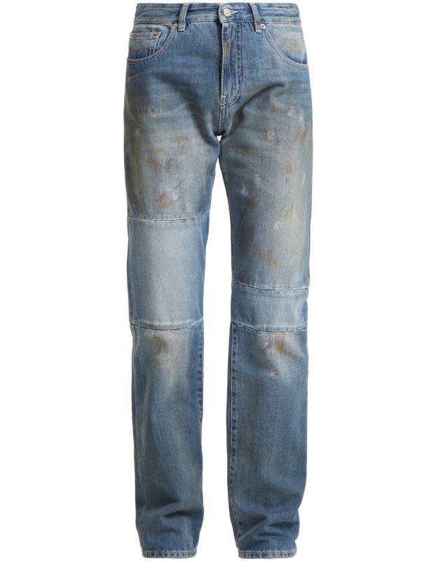 Jean taille haute patchwork MM6 par Maison Margiela