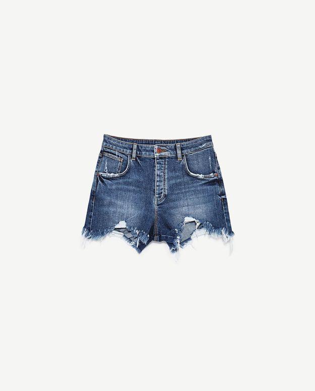 Short en jean Zara