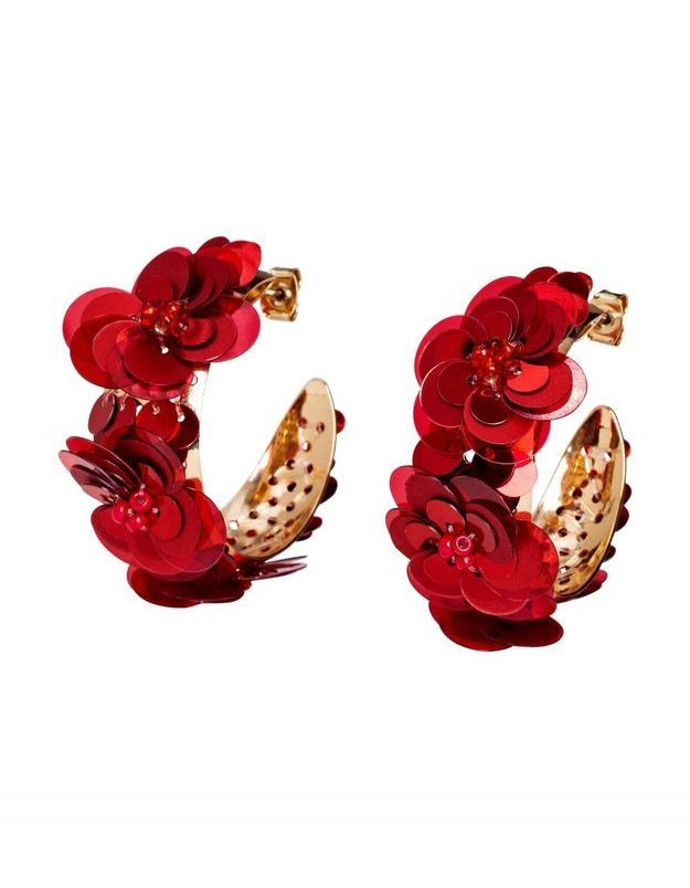 Grosses boucles d'oreilles à fleurs H&M