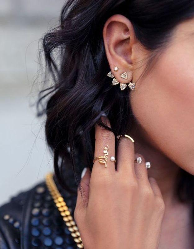 Piercing oreille à la mode