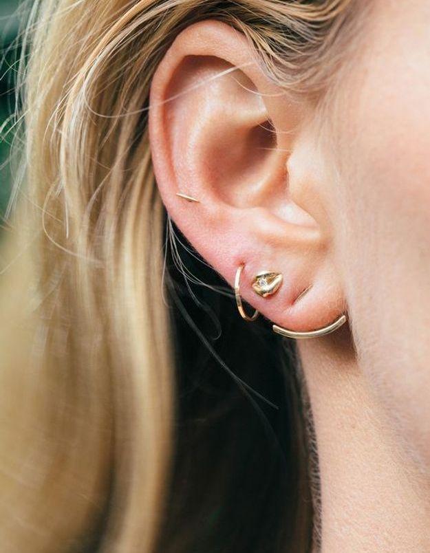 Piercing oreille élégant