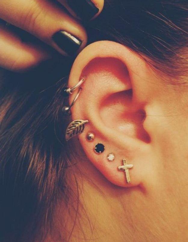 Piercing oreille femme