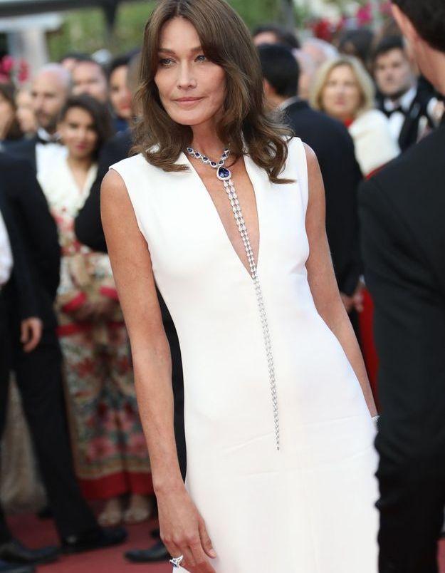 Carla Bruni en 2018, au Festival de Cannes