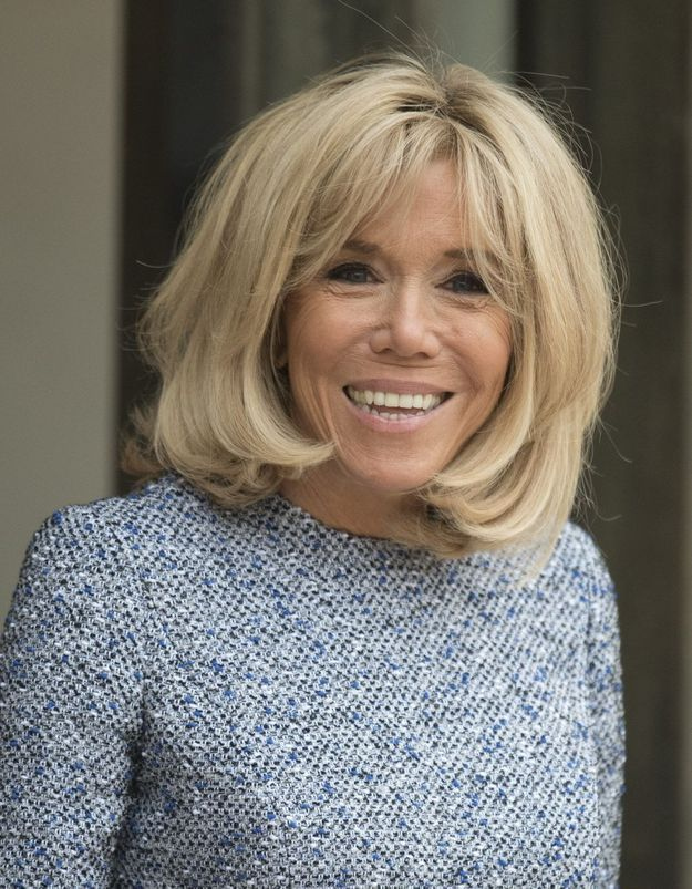 Brigitte Macron : en petite robe en tweed, elle charme la presse britannique