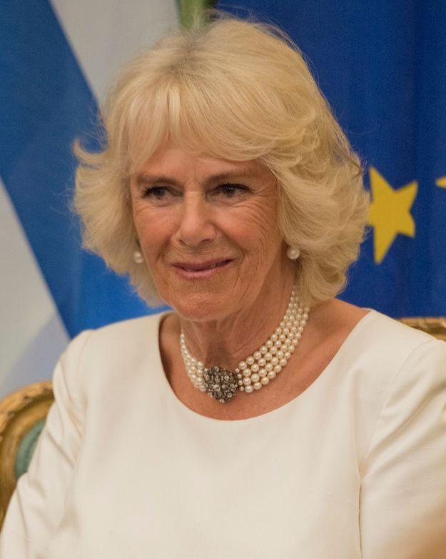 Camilla Parker-Bowles en Grèce en mai 2018