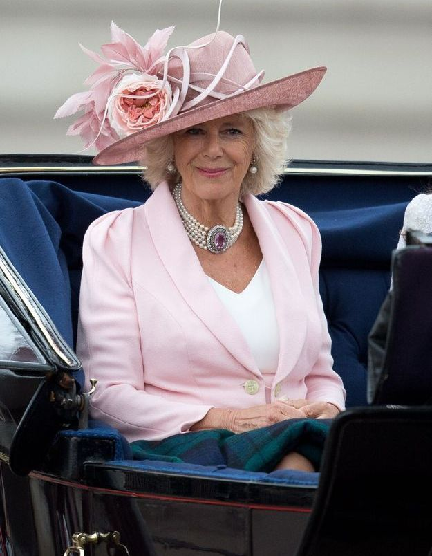 Camilla Parker-Bowles, en juin 2014 lors de la Trooping the Colour