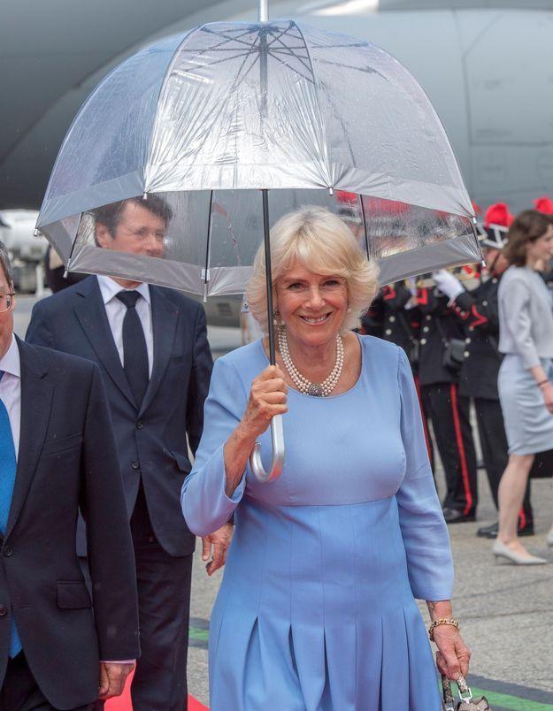 Camilla Parker-Bowles en mai 2018 à Nice pour une visite de 2 jours en France