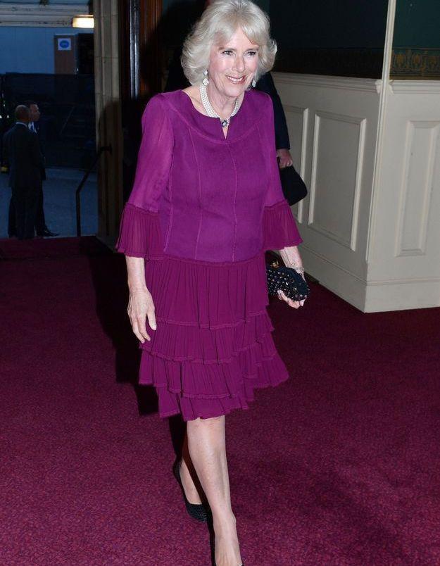 Camilla Parker-Bowles, le 21 avril 2018, lors des 92 ans de la Reine Elizabeth II