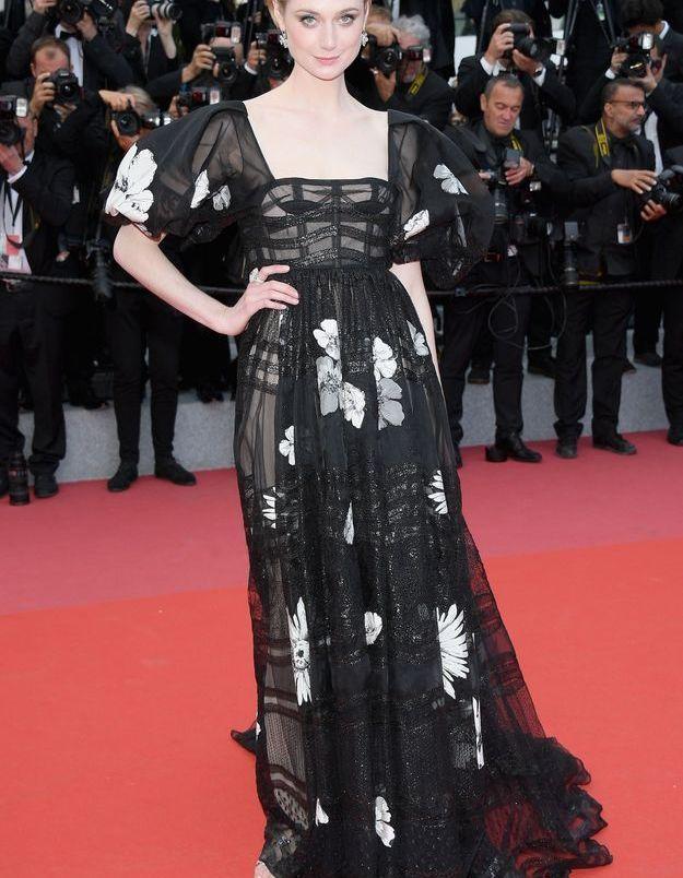 La robe d'Elizabeth Debicki