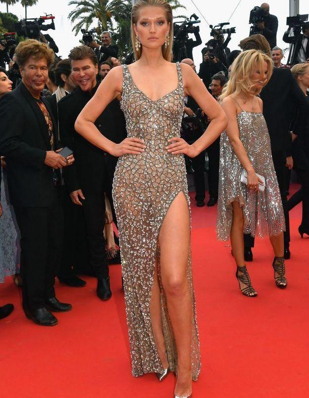 La robe Roberto Cavalli de Toni Garrn