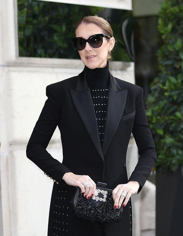 Celine Dion Son Style Gothique Chic Dans Les Rues De Paris