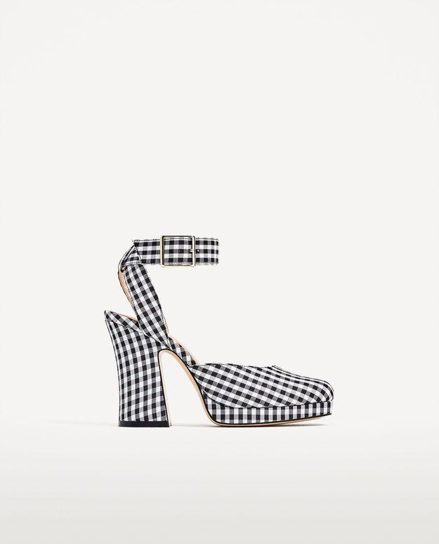 Chaussures à talons vichy Zara