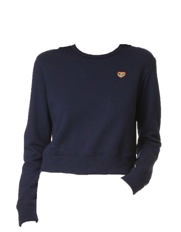 Sweatshirt bleu marine brodé Mother