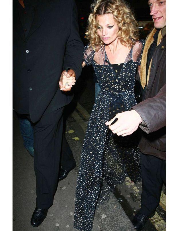 Kate Moss à la soirée d'anniversaire pour ses 34 ans