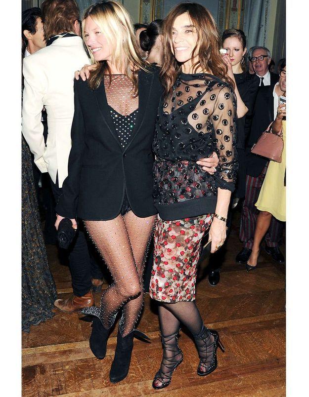 Kate Moss à la soirée pour le lancement du deuxième numéro de « CR »