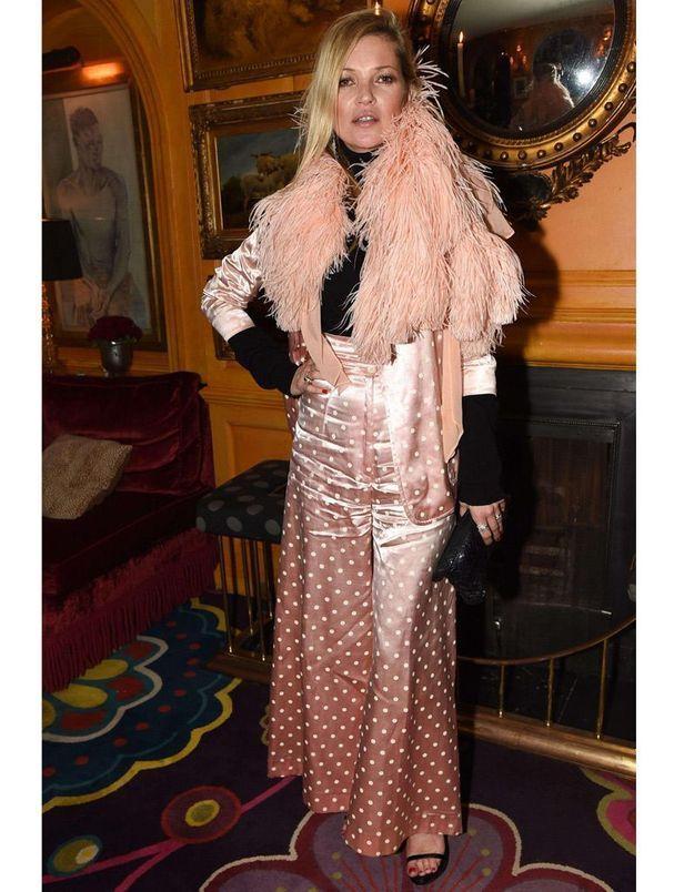 Kate Moss au dîner pour les 50 ans du club Annabel