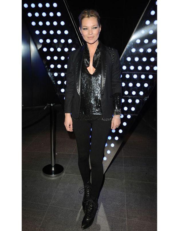 Kate Moss la soirée de lancement de l'hôtel W à Londres