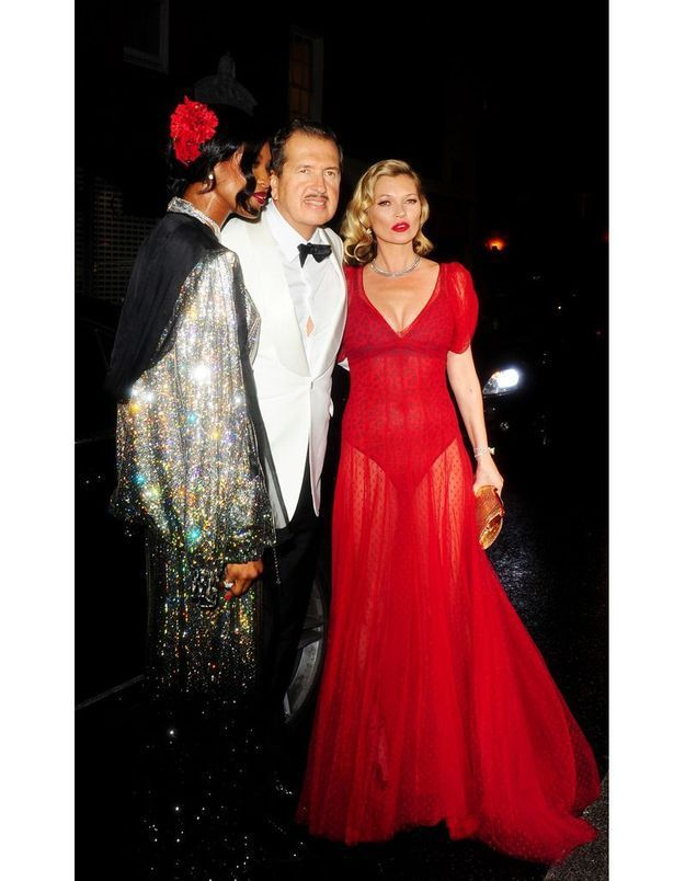 Naomi Campbell, Mario Testino et Kate Moss au 60e anniversaire de Mario Testino