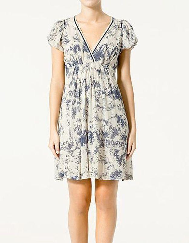 Une robe imprimée