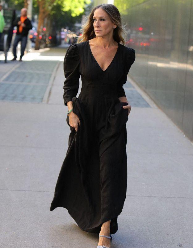 Sarah Jessica Parker : sa doudoune, signée d'une marque française, est en solde