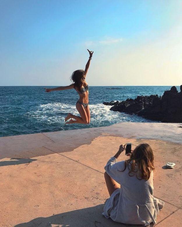 Bikini à volants vichy (featuring Camille Cerf)