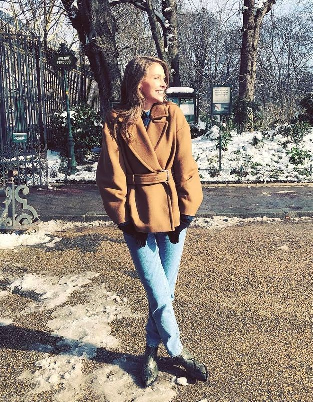 Le look « grand froid » d'Ophélie Meunier nous inspire