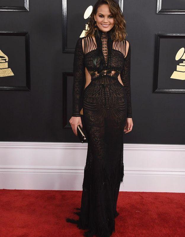 Chrissy Teigen aux Grammy Awards 2017