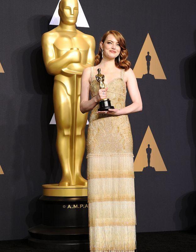 Emma Stone aux Oscars 2017