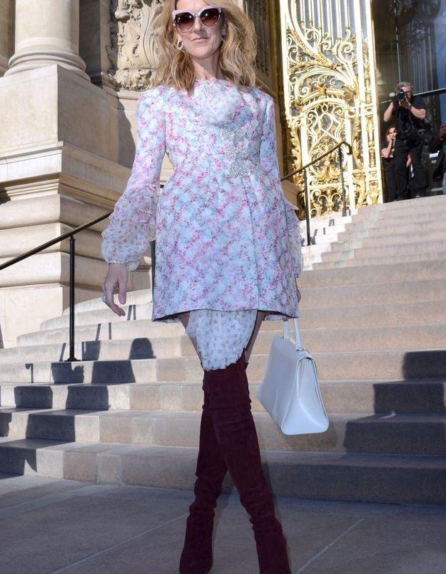 Céline Dion à la Fashion Week Haute Couture de Paris, juillet 2017