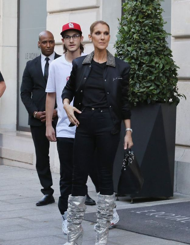 Céline Dion à la Fashion Week de Paris, juillet 2017