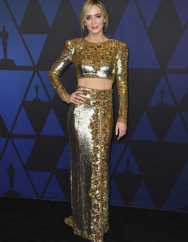 La robe double d'Emily Blunt