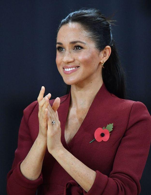 Meghan Markle en robe rouge