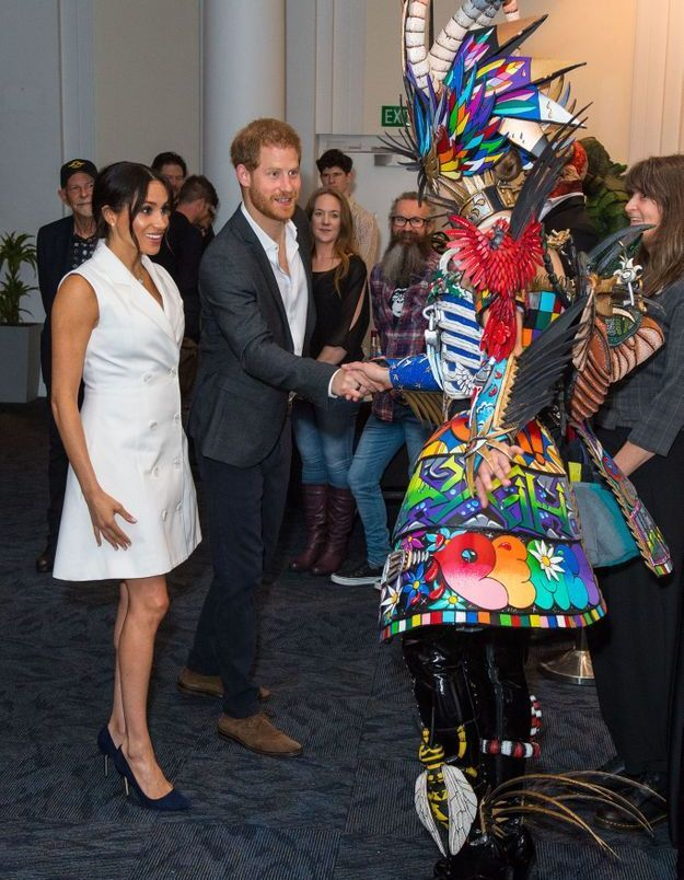 Meghan Markle et le Prince Harry rencontrent des acteurs