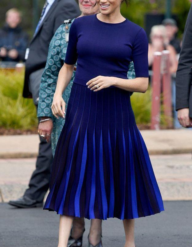 La robe déclinée dans des nuances de bleu de Meghan Markle