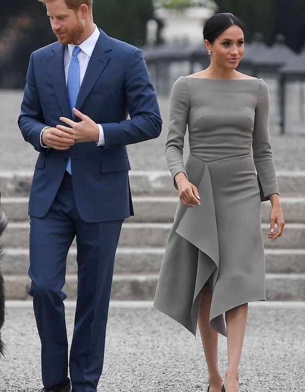 La robe kaki de Meghan Markle