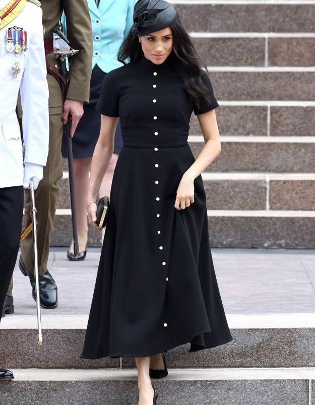 La robe noire de Meghan Markle
