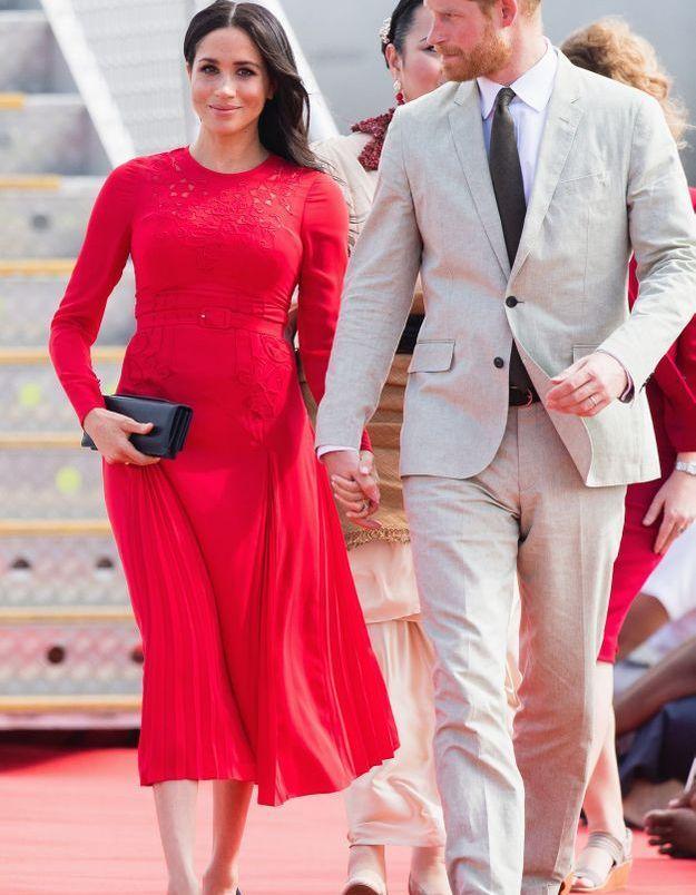 La robe rouge de Meghan Markle