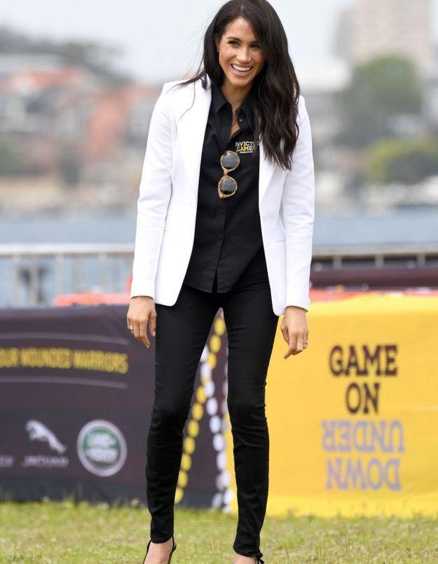 Le blazer blanc de Meghan Markle