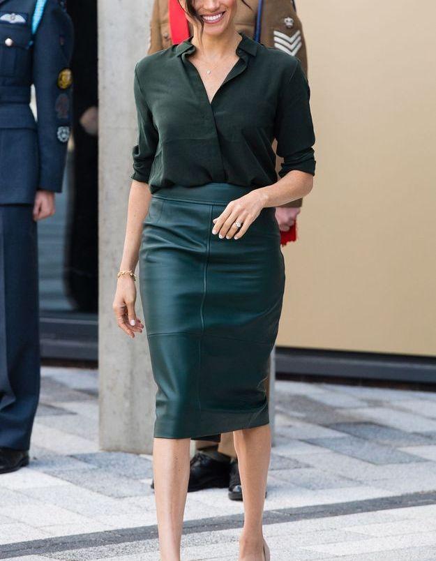 Le total look vert de Meghan Markle