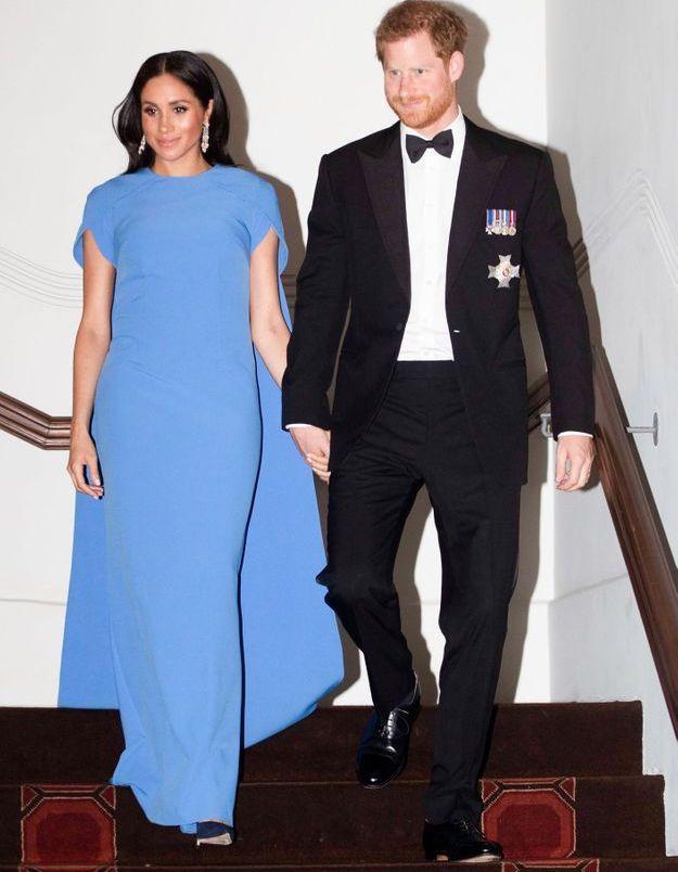 Meghan en robe bleue