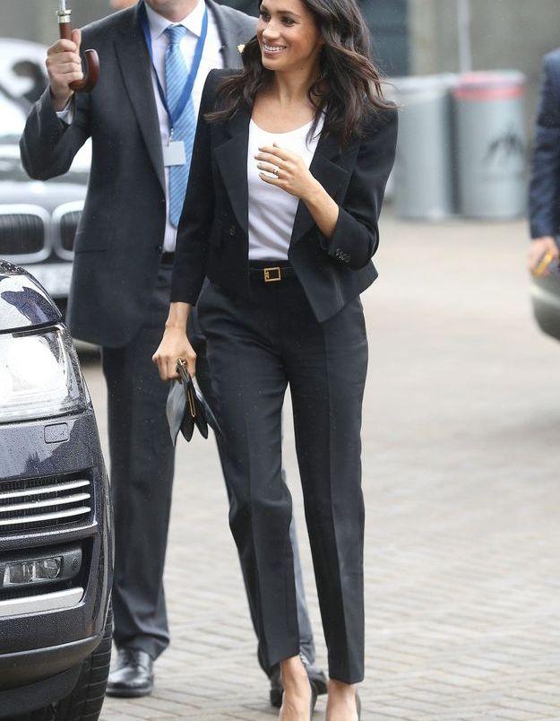 Meghan Markle en tailleur Givenchy pour assister aux Galeic sports