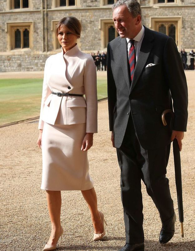 Melania Trump accueillie à Windsor