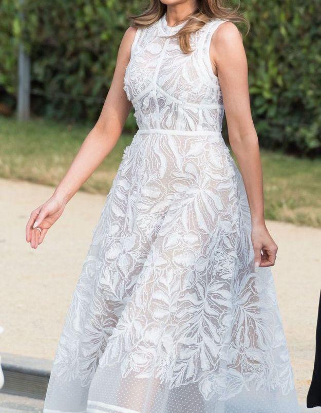 Melania Trump en robe Calvin Klein