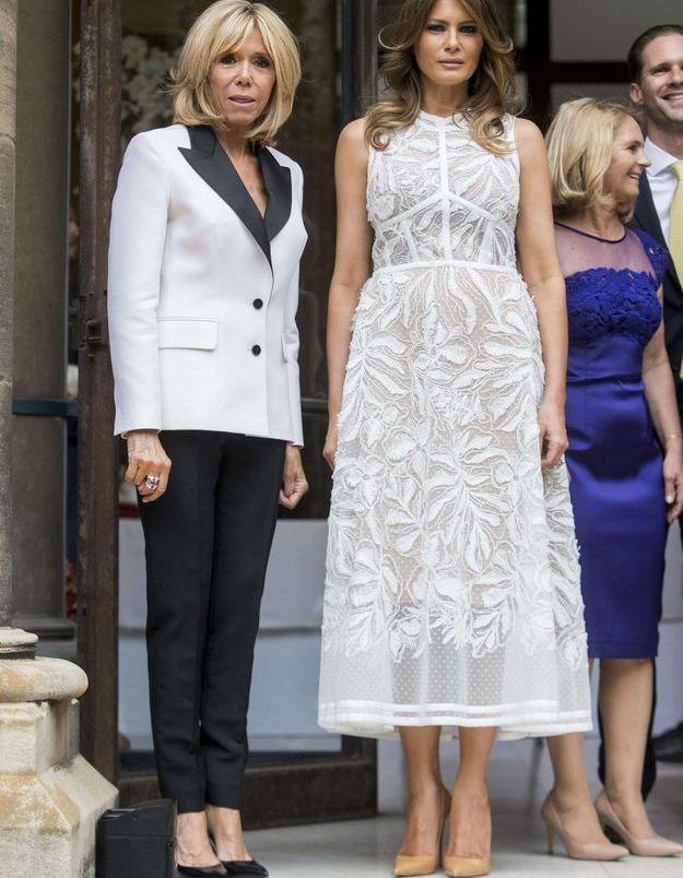Melania Trump et Brigitte Macron au Parc du Cinquantenaire