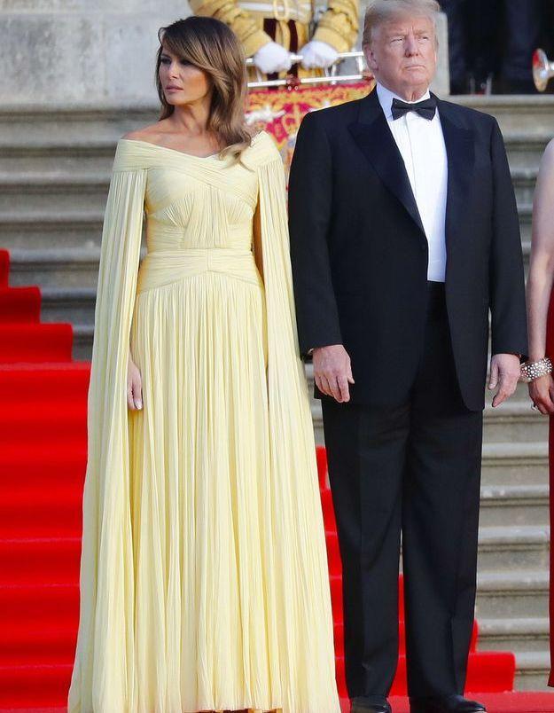Melania Trump et Donald Trump au Blenheim Palace
