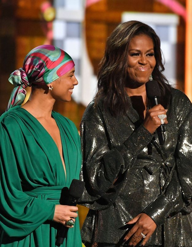 Michelle Obama : son look inattendu illumine les Grammy Awards 2019