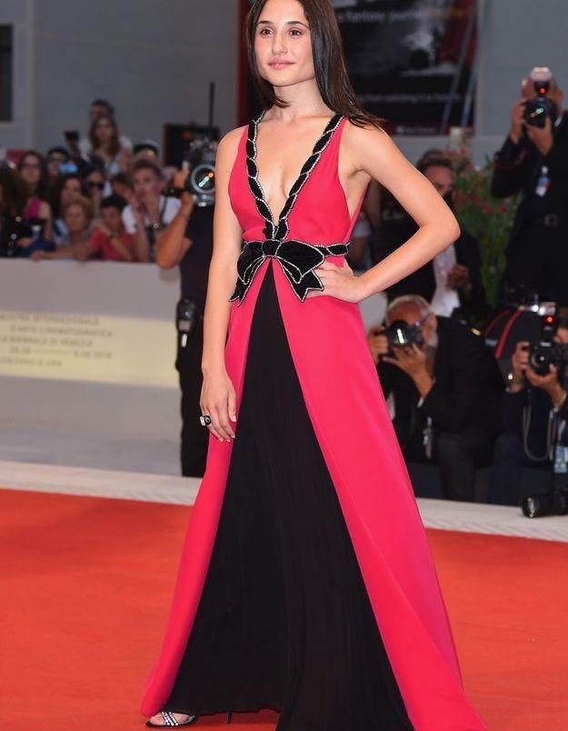 Marianna Fontana sur le tapis rouge