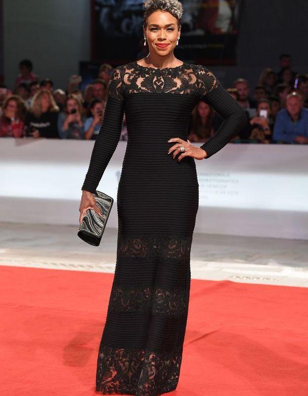 Gillian Iliana sur le tapis rouge de la Mostra