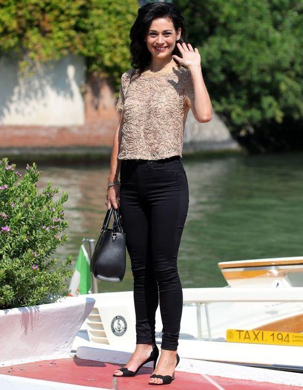 Helena Antonio arrive à la Mostra